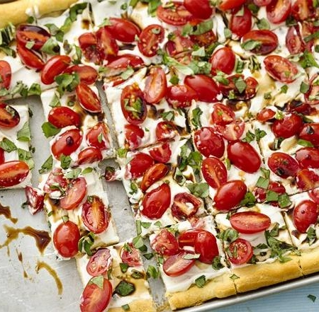 پیتزا گوجه فرنگی- پیتزا وگان