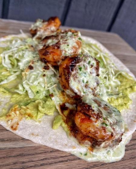 ساندویچ میگوی مکزیکی (ساندویچ تند)