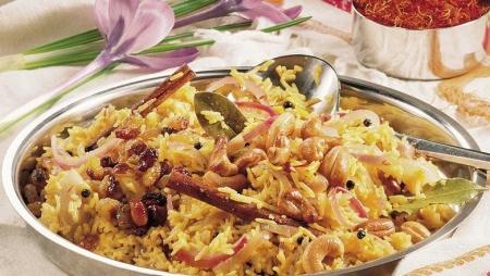 برنج باسماتی با زعفران