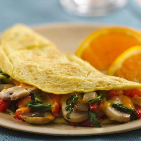 املت شکم پر سبزیجات